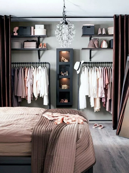 Elegant Wardrobe Design Ideas For Your Small Bedroom 48