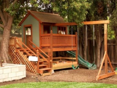 Marvelous Outdoor Playhouses Ideas To Live Childhood Adventures 01