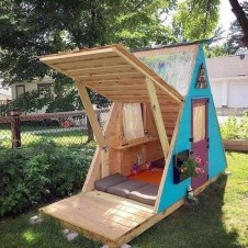 Marvelous Outdoor Playhouses Ideas To Live Childhood Adventures 06