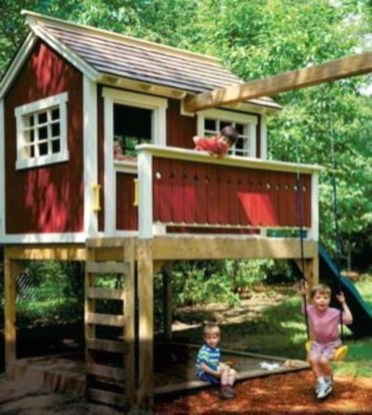Marvelous Outdoor Playhouses Ideas To Live Childhood Adventures 11