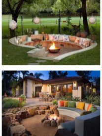Awesome Backyard Seating Ideas For Best Inspiration 40