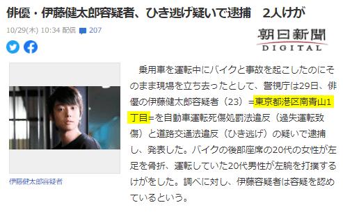 俳優・伊藤健太郎容疑者、ひき逃げ疑いで逮捕 2人けが