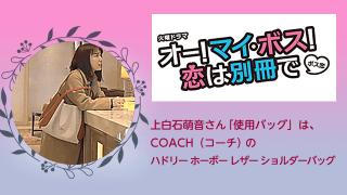 ボス恋【上白石萌音/バッグ】はCOACH(コーチ)の数量限定品!