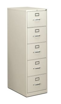 Hon 310 Series Vertical File Cabinet 5 Drawer  Cabinets ...