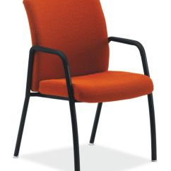 Orange Bucket Chair Purple Dining Office Chairs Hon Furniture Ignition Guest Upholstered Back Fixed Arms Front Side View Higcl E U Om67