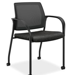 Hon Guest Chairs Chicco Hook On Chair Office Furniture Ignition Multi Purpose Stacking Mesh Back Attire Onyx Color Fixed Arms Front Side