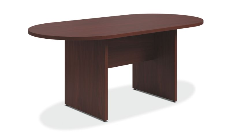 conference tables and chairs tempur pedic chair hon office furniture preside table with panel base mahogany color htla7236lpnnn