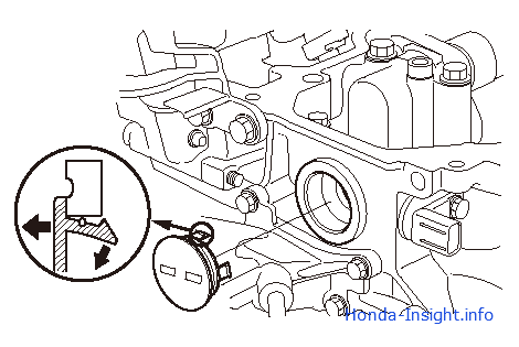 Honda Insight 2: снятие и установка импульсной пластины