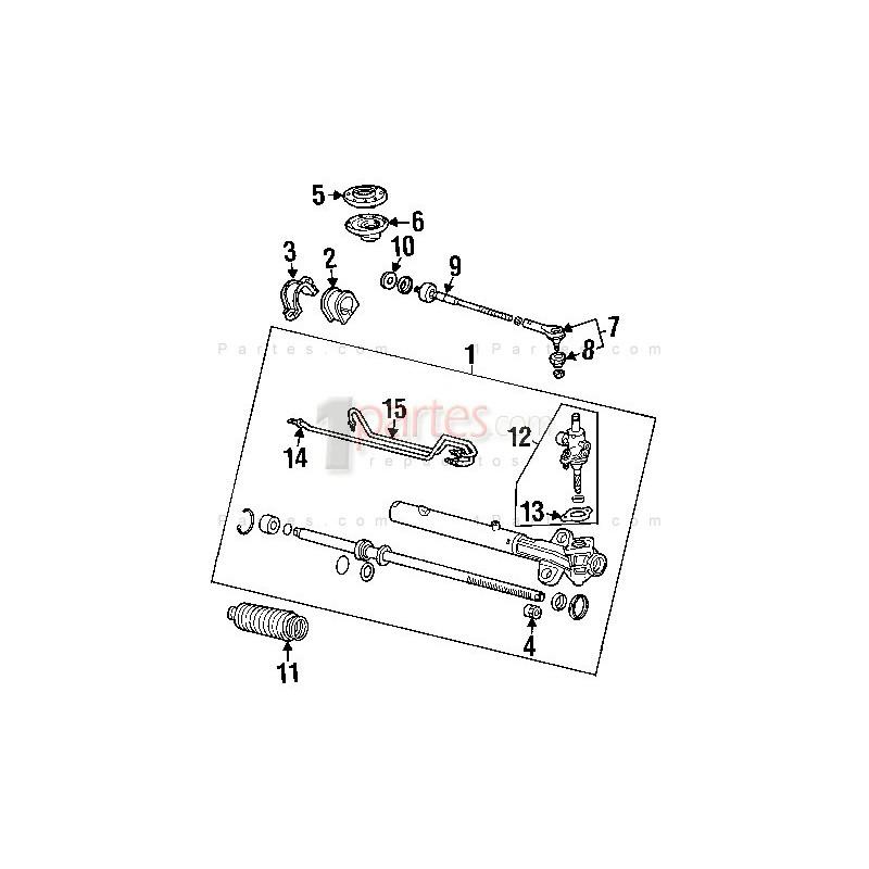 Cajetín / cremallera de dirección Honda Odyssey RL