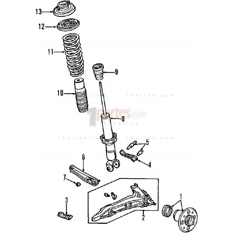 Brazo de control inferior Honda Civic  Grupo: Suspensión