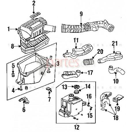 Tubo de admisión de aire Honda Accord CD 17228-P0B-A00