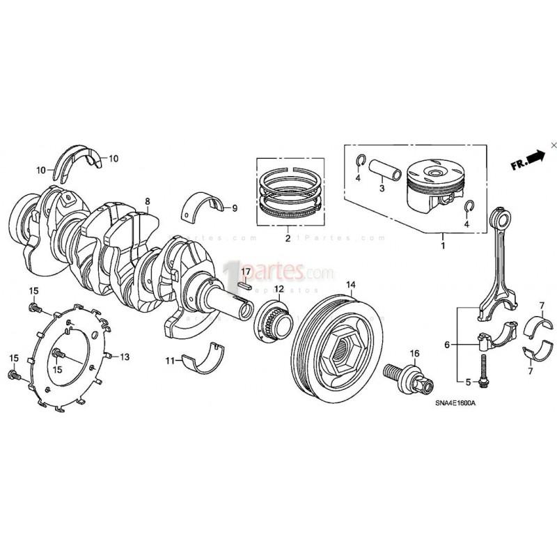 Biela Honda Civic CR-V 13210RNAA00 Grupo: Motor