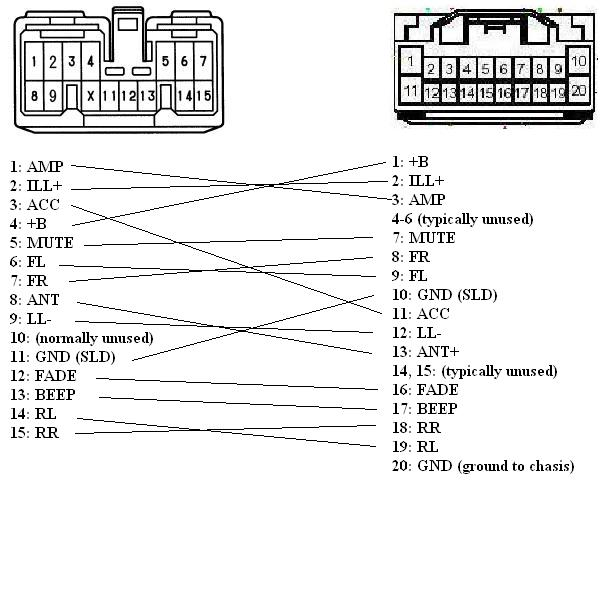 Pioneer Deh 1100mp Wiring Diagram Trying To Install An Oem Cd Cassette Deck In A 1999 Toyota