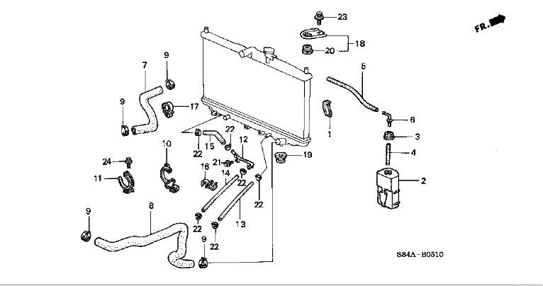 radiator fan wiring diagram 2002 honda civic