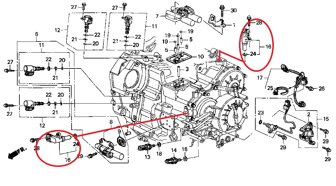 Honda Element Transmission Diagram, Honda, Free Engine