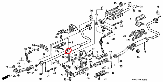 1996 Civic EX Coupe Resonator (B?) Pipe break and a bad