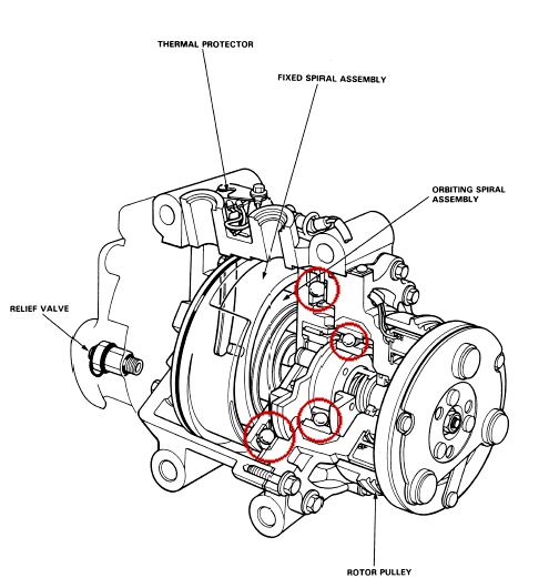 Ac Compressor Clutch Bearing Parts