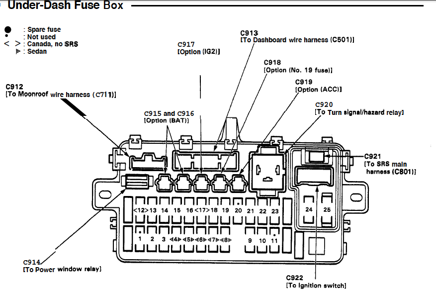 1994 Honda Del Sol Fuse Box Diagram, 1994, Free Engine