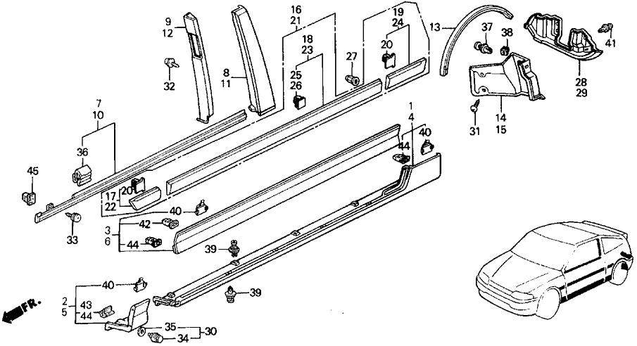 91 Honda Crx Si Engine Harness Diagram 91 Honda Accord LXI