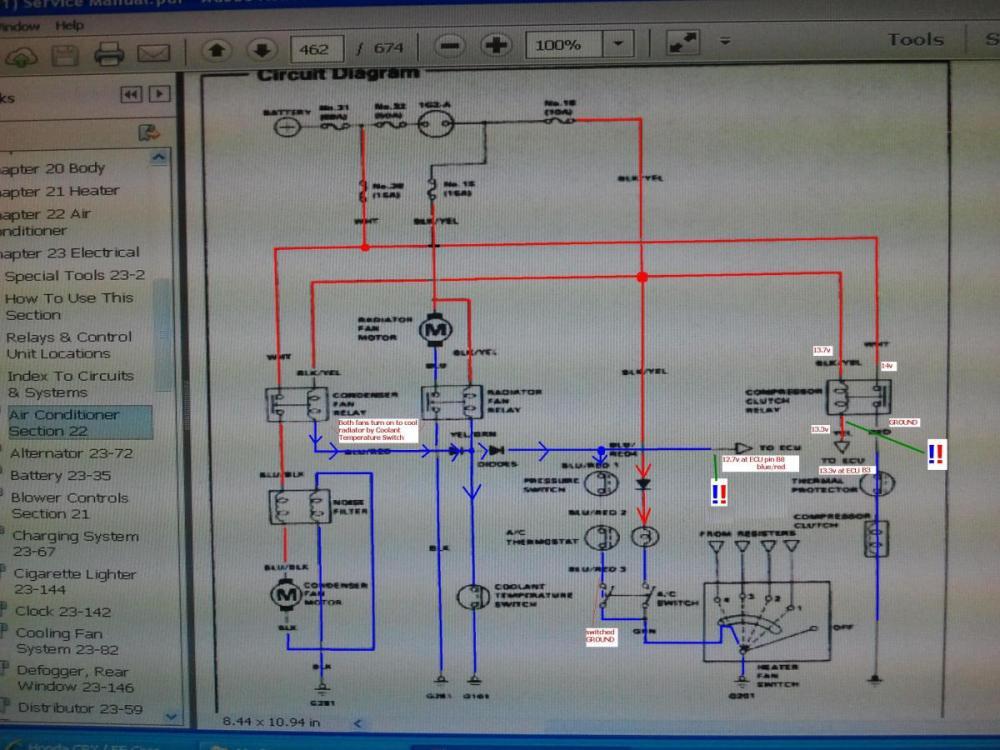 medium resolution of 91 crx dx w b16 radiator fan relay wiring help pics 95 honda civic 1991 honda civic hatchback stereo wiring diagram