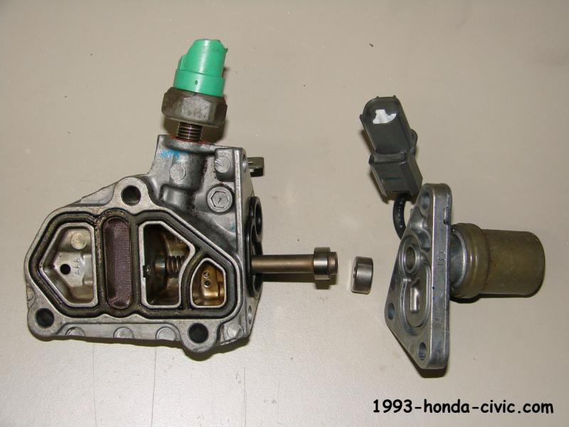 Pic Of The Vtec Solenoid And The Oil Pressure Switch