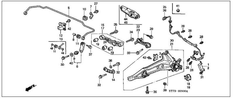 Suspension Honda Diagram Odyssey Rear