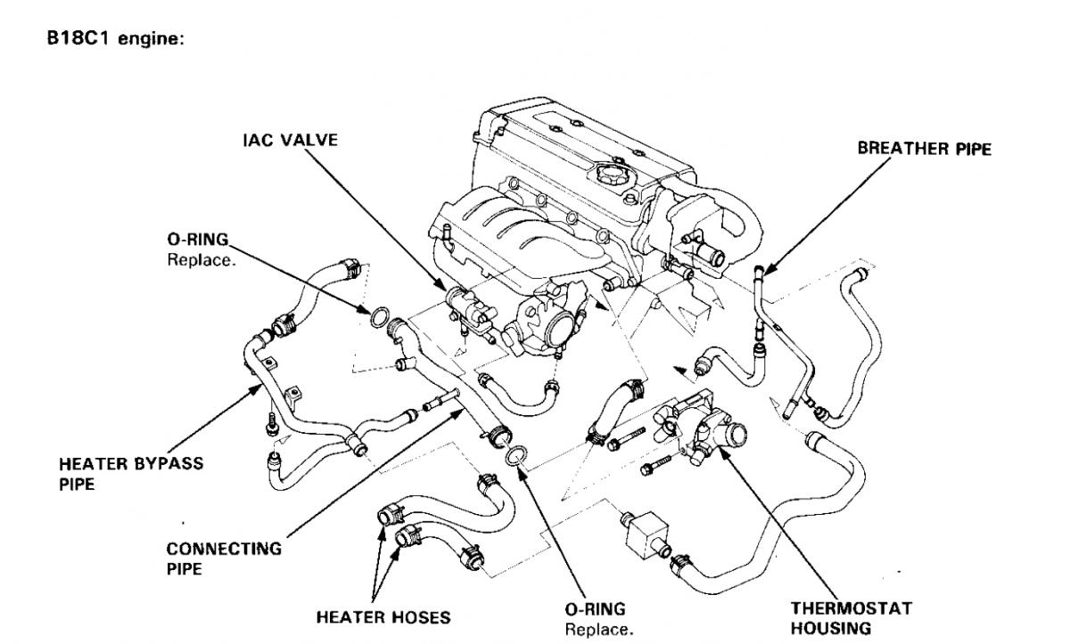 hight resolution of engine compartment hose diagram b18c1 honda tech honda forum rh honda tech com 1994 acura integra