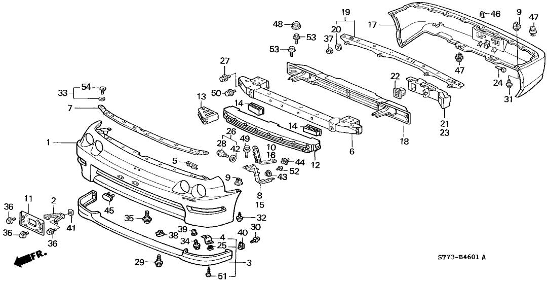 Bumper 2004 Honda Accord Diagram. Honda. Auto Parts