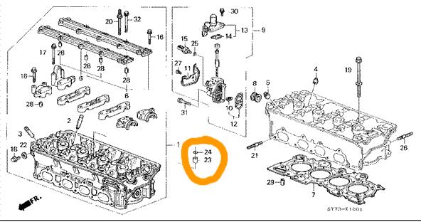 Verification on Dowel Pins for Camshaft Holder (B18C1