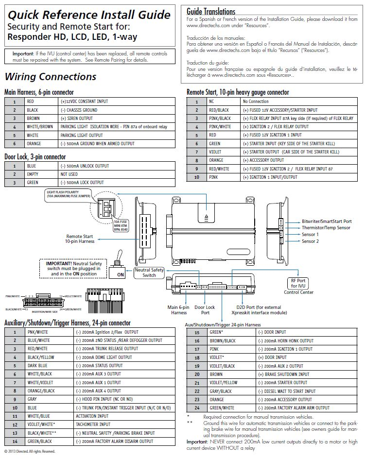 Viper Remote Start Wiring Diagram Avital Keyless Entry