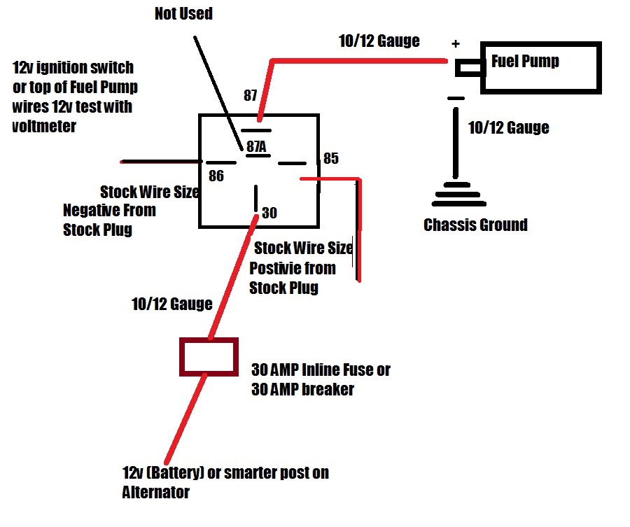 1990 chevy fuel pump relay wiring