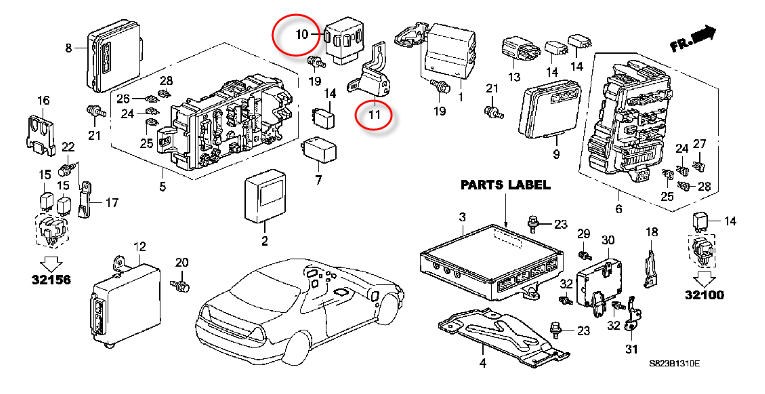 Where Is The 1998 Honda Accord Main Relay?