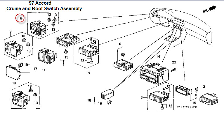Wiring Diagram For Sunroof On 2015 Honda Odyssey : 48