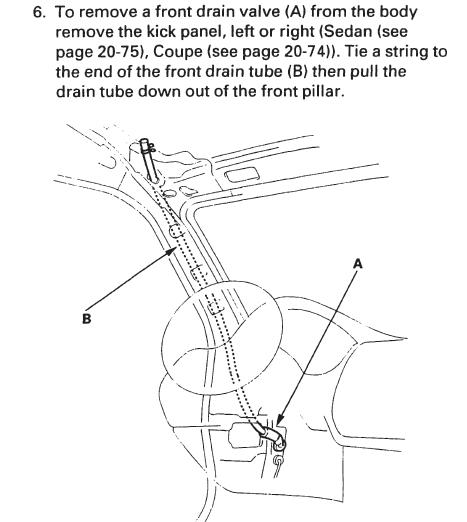 98 accord sunroof drain diagram hondatech