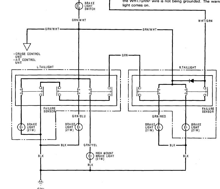 1991 honda accord brake light wiring diagram