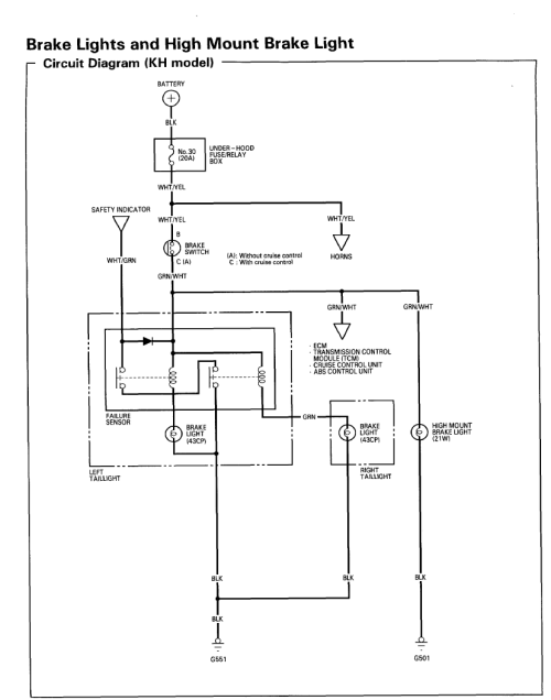 small resolution of 1990 honda prelude tail light wiring wiring diagram auto 1990 honda prelude tail light wiring