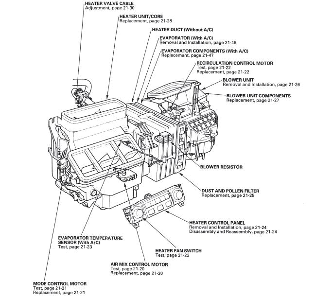 Service manual [1990 Honda Accord How To Recalibrate Hvac