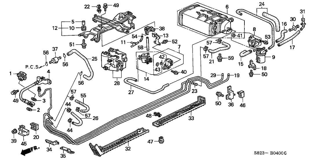 1998 Accord Fuel Pressure Regulator Return Hose Size