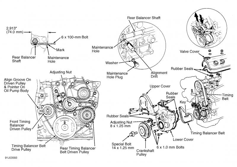 92 honda accord engine diagram mobile home thermostat wiring f23a4 - balancer belt installation question honda-tech forum discussion