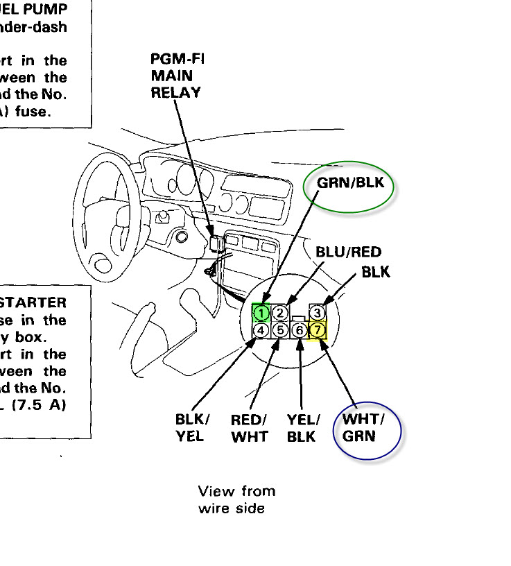 94 Honda Accord Under Dash Wiring Diagrams 94 Accord Dash