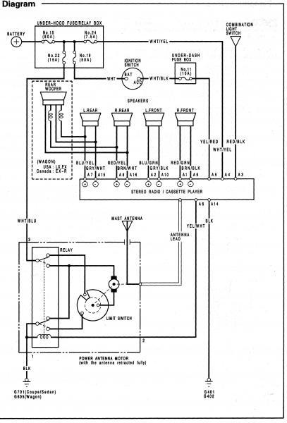 94 Accord Power Antenna Wiring Diagram