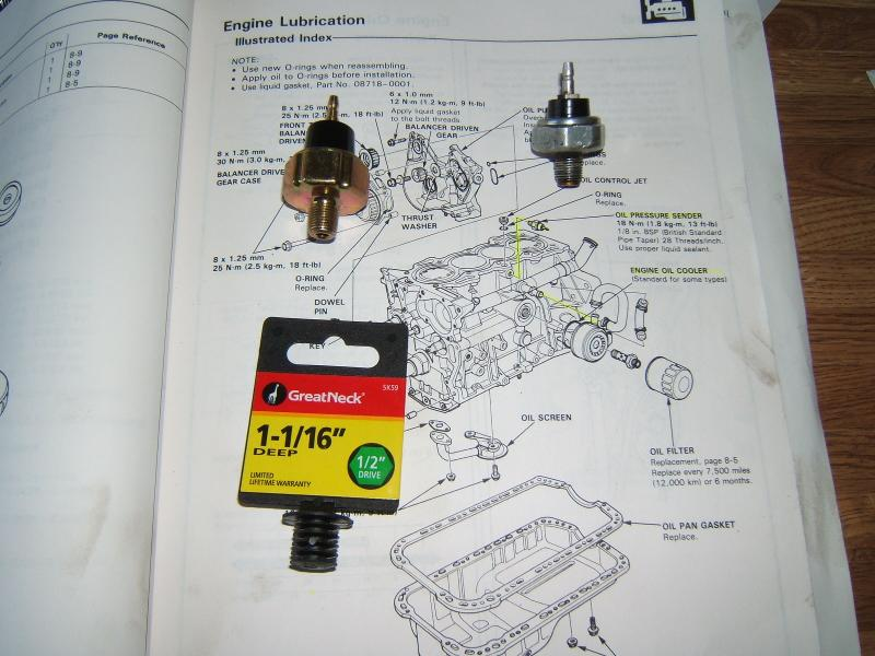 1997 Honda Accord Oil Sending Unit