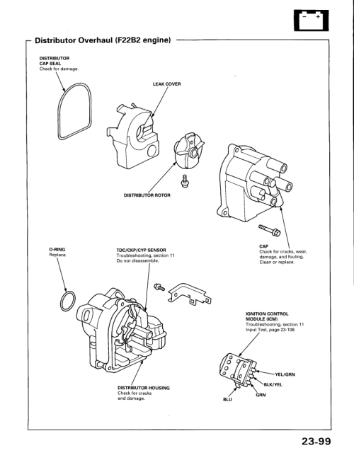 small resolution of honda distributor diagram wiring diagram go 1992 honda accord igniter 1992 circuit diagrams