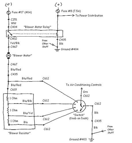 Blower Motor Resistor Wiring Diagram