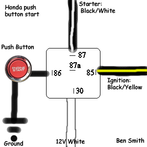 2003 Honda Remote Start Wiring Diagrams Push Button Start And Kill Switch Ignition Bypass