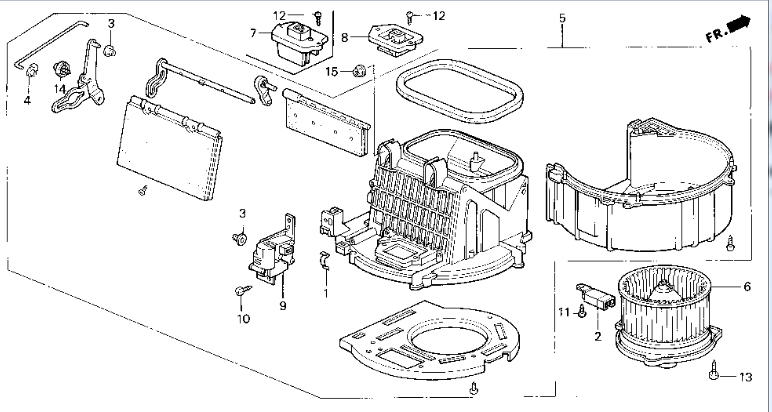 Service manual [1989 Honda Accord Heater Blower Replace