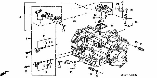 Honda Odyssey Transmission Control Solenoid Location