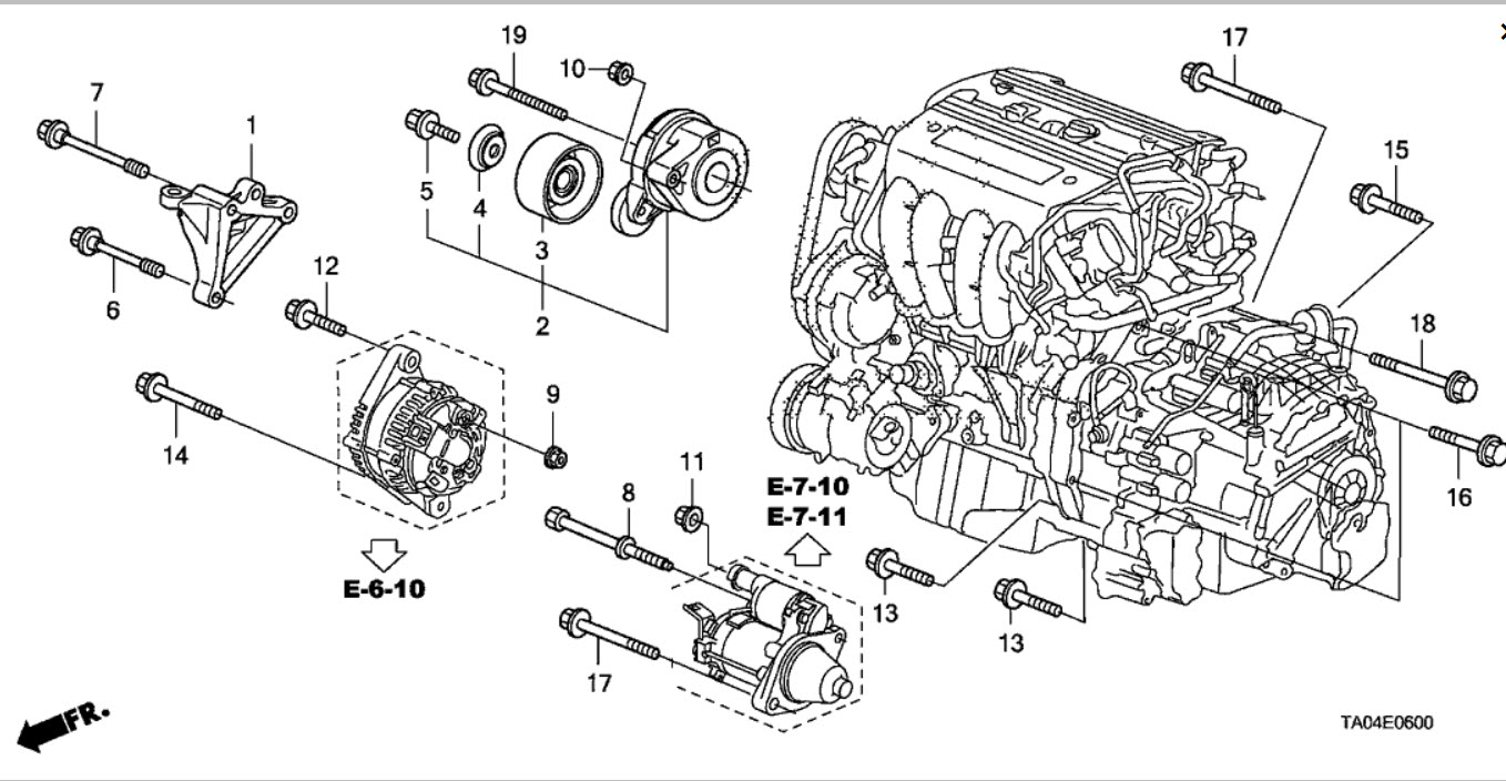 hight resolution of 2008 honda accord alternator removal honda tech honda forum 1997 honda accord alternator diagram honda accord alternator diagram