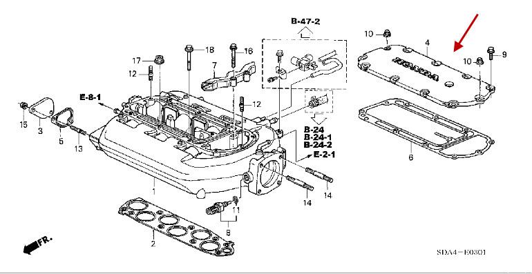 2003 honda accord intake manifold diagram image about