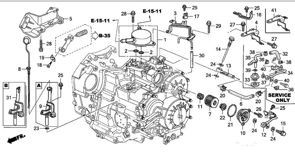honda accord transmission filter change